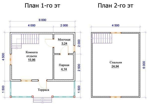План-схема расположения помещений 6x6 фото.