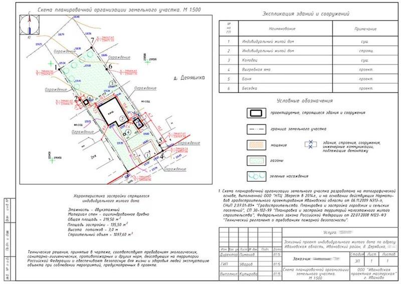 Схема расположения объекта земельном участке 692