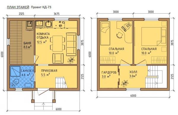 Проектирование с двумя этажами и комнатой отдыха фото.