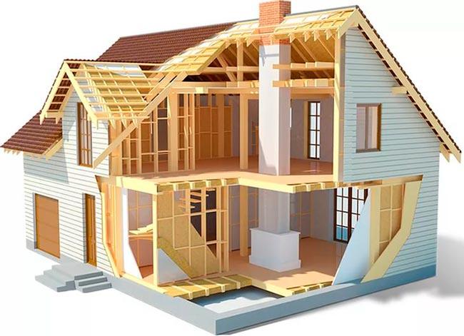 Схема дома в разрезе фото 861