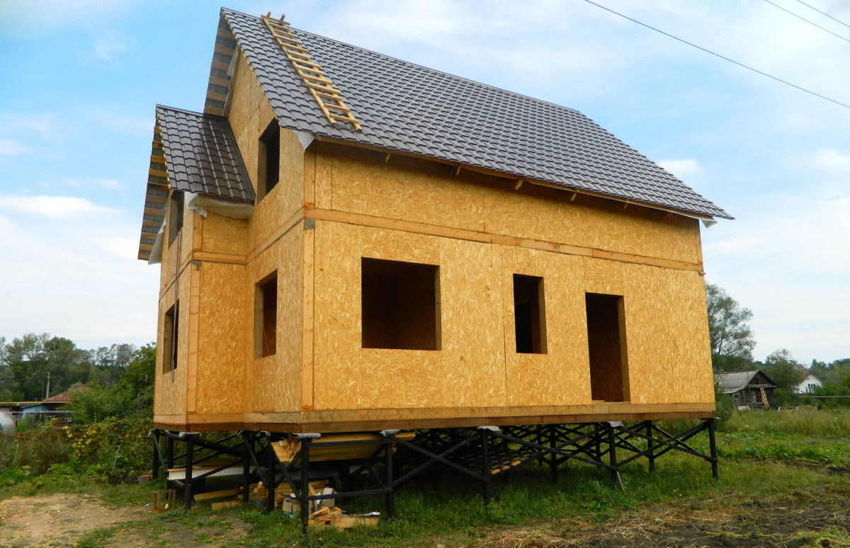 Каркасный дом на винтовых сваях своими руками пошаговая инструкция