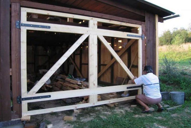 Построить гараж своими руками деревянный