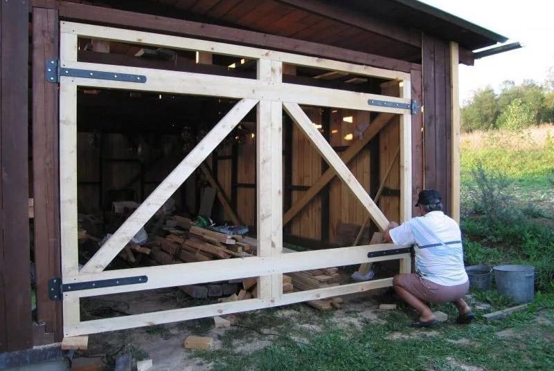 Как сделать деревянный гараж