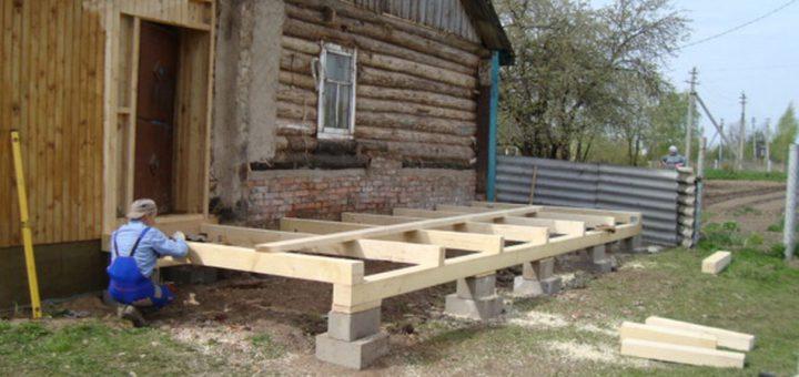 Как пристроить гараж к деревянному дому своими  537