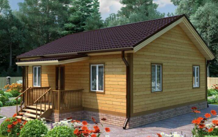 Одноэтажные каркасные дома под ключ на фото с проектами.