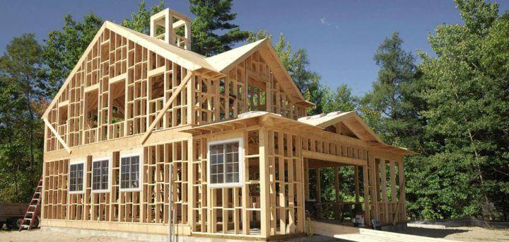 Строительство каркасного дома для проживания.