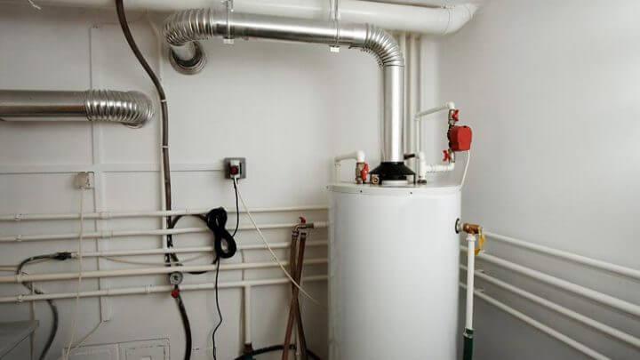 Организация с помощью газа.