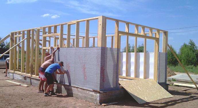 Как сделать дом из каркаса 314