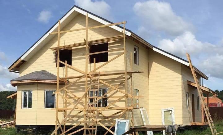 Строим каркасно-щитовой с мансардой в два этажа.