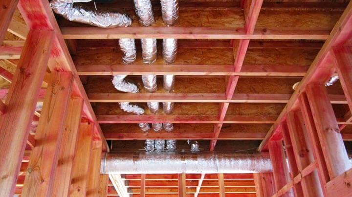 Вентиляция в каркасном доме с утеплением базальтовой ватой.
